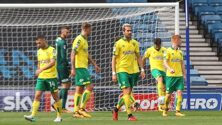 The inquest begins in the Norwich City backline. Picture: Paul Chesterton/Focus Images Ltd