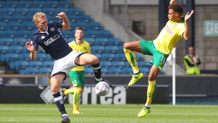Josh Murphy and George Saville tussle at The Den. Picture: Paul Chesterton/Focus Images