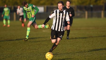 Danny Beaumont hit the winner for Dereham against Yaxley in the first qualifying round of the FA Cup