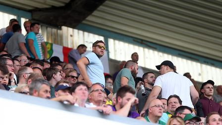 Some travelling Norwich fans had seen enough and made an early exit. Picture: Paul Chesterton/Focus