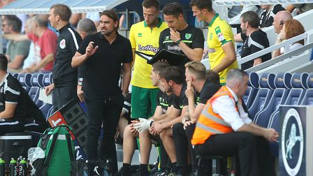 Norwich head coach Daniel Farke is trying to get the numbers to stack up in his favour. Picture: Pau