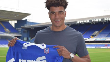 Tom Adeyemi joined Ipswich in the summer. Photo: ITFC