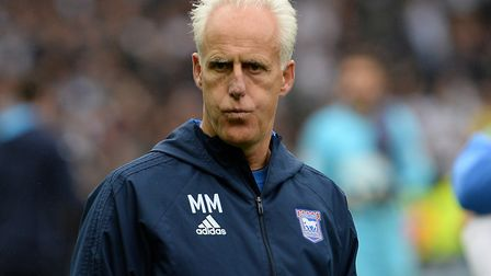 Ipswich manager Mick McCarthy is yet to win an East Anglian derby fixture, after six attempts. Pictu