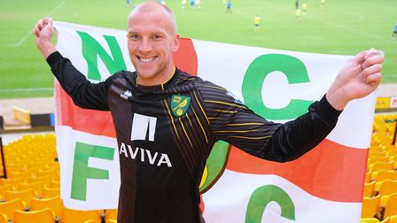 John Ruddy earned an England call at Carrow Road. Picture: Denise Bradley