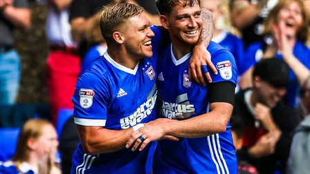 Martyn Waghorn, left, and Joe Garner have impressed for Town since their summer arrivals from Ranger