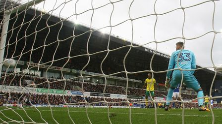 Ipswich Town's Bartosz Bialkowski can only watch as the ball flies past him into the net from James