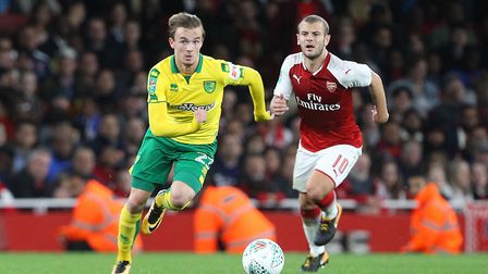 James Maddison leaves Jack Wilshere in his wake.