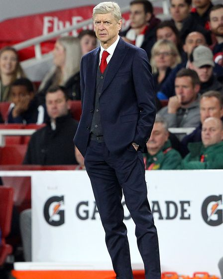 Arsenal Manager Arsene Wenger during the Carabao Cup match at the Emirates Stadium, LondonPicture by
