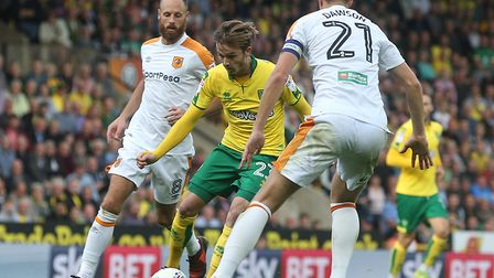 Hull tried to rough up James Maddison at Carrow Road. Picture by Paul Chesterton/Focus Images Ltd