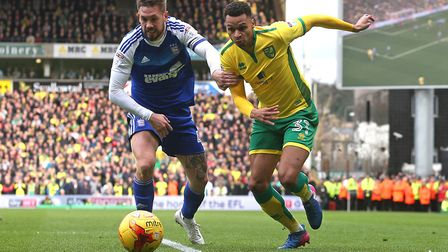 Josh Murphy is one of the few survivors left in the Norwich City ranks from last season's Ipswich To