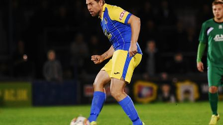 Grant Holt will be available for King's Lynn's trip to Dunstable after serving a one-match suspensio