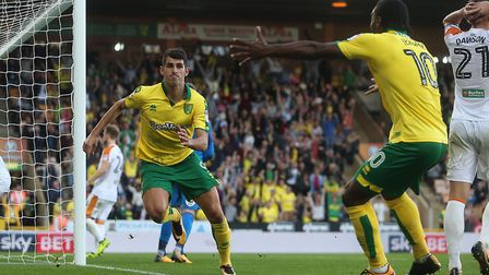 Nelson Oliveira struck late to earn Norwich City a point against Hull City. Picture: Paul Chesterton