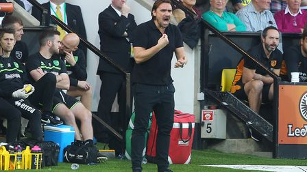 Daniel Farke makes his East Anglian derby debut at Ipswich Town on Sunday. Picture: Paul Chesterton/