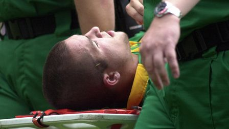 Derby day is a reminder of Alex Notman career-ending ankle injury. Picture: Archant