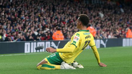 Josh Murphy put Norwich City in front with a cheeky chip against Arsenal at the Emirates. Picture: P