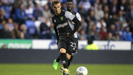 James Maddison of Norwich in action during the Sky Bet Championship match at the Madejski Stadium, R