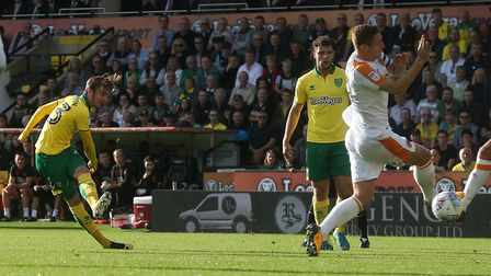 James Maddison struck a post with a first half shot. Picture: Paul Chesterton/Focus Images Ltd