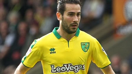 Mario Vrancic returns to the Norwich City starting line-up against Hull. Picture by Paul Chesterton/