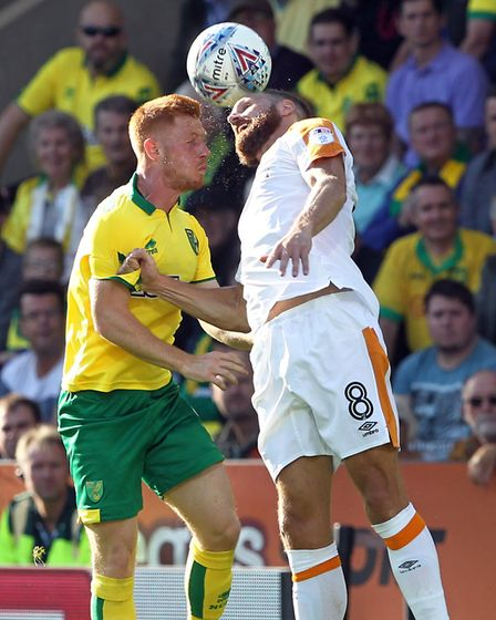 Harrison Reed did his best to cover for the absence of Alex Tettey against Hull. Picture: Paul Chest