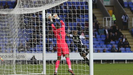 Cameron Jerome of Norwich scores his side's second goal during the Sky Bet Championship match at the