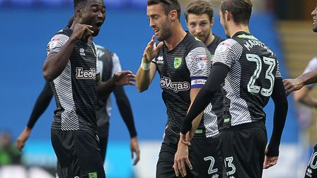 Norwich City made it four away wins on the spin in a 2-1 Championship victory at Reading. Picture: P