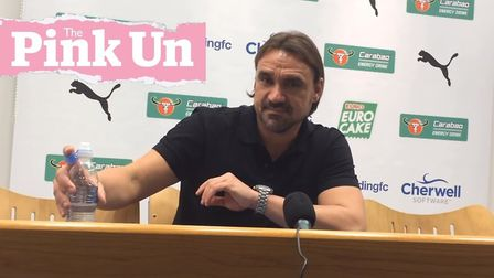 Daniel Farke speaks to the media following his side's superb win at Reading.