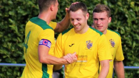 Alex Beck, who hit four of Wisbech's five goals on Saturday, is on Boston Town's radar. Photo: KAREN