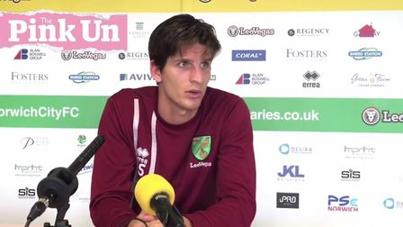 Timm Klose was on media duties at Colney ahead of Norwich City's Championship trip to Reading.