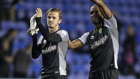 James Maddison (left) has looked the part since joining Norwich City's first-team party. Picture: Pa