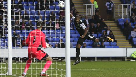 Cameron Jerome scores Norwich City's winning goal at Madejski Stadium. Picture: Paul Chesterton/Focu