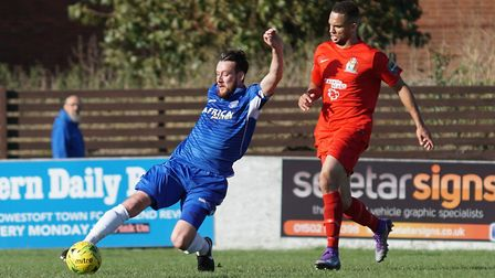 Rory McAuley, scorer of Lowestoft's goal. Picture: Shirley D Whitlow