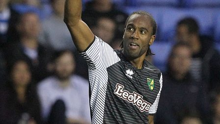 Cameron Jerome celebrates notching his first goal of the Championship season. Picture: Paul Chestert