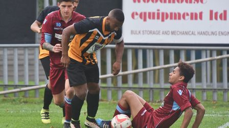 Thetford (maroon) look down and out at the moment but will look to bounce back in the Norfolk Senior