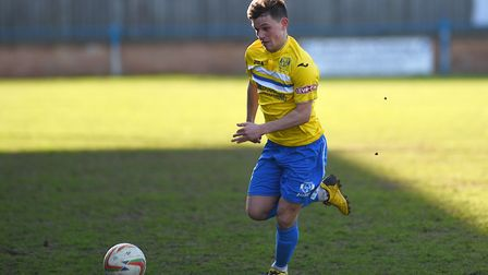 Eoin McQuaid's performances have been rewarded with a contract at King's Lynn Town. Picture: Ian Bur