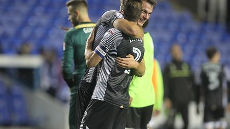 Christoph Zimmermann and Ivo Pinto celebrate victory at Reading. Picture: Paul Chesterton/Focus Imag