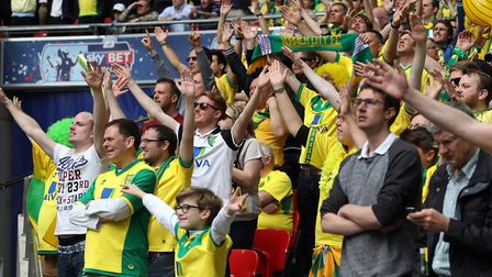 Norwich fans during the play-off final. Picture: Paul Chesterton/Focus Images Ltd