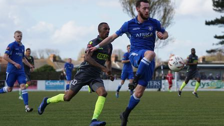 Rory McAuley's late goal earned Lowestoft a valuable three points. Picture: Shirley D Whitlow
