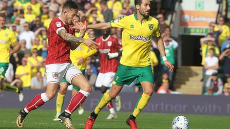 Mario Vrancic is ruled out of Norwich City's Championship trip to Middlesbrough. Picture: Paul Chest