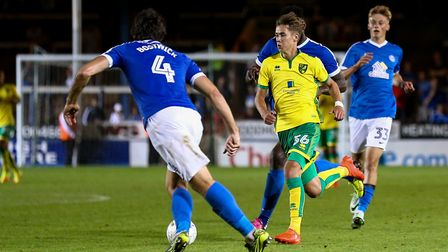 Todd Cantwell salvaged a point for Norwich City's U23s at Reading on development duty. Picture: Andy