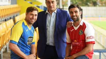Former Norwich City stars (L) Grant Holt and Simon Lappin were unveiled at The Walks earlier today.