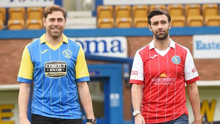 Former Norwich City stars Grant Holt, left, and Simon Lappin have joined King's Lynn Town. Picture: