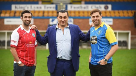 Former Norwich City stars (R) Grant Holt and Simon Lappin were unveiled at The Walks earlier today.