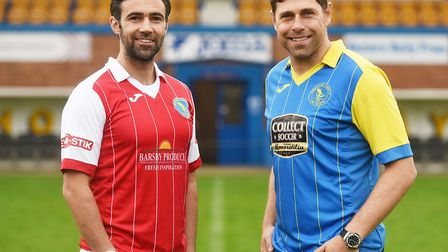 Former Norwich City stars (R) Grant Holt and Simon Lappin could make their King's Lynn debuts from t