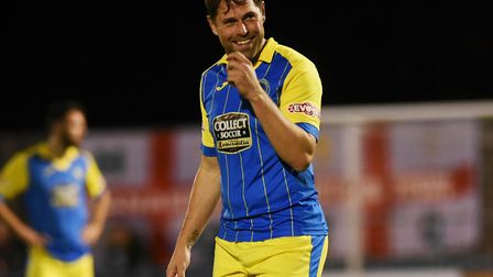 Grant Holt came on for King's Lynn in the second half. Picture: Ian Burt
