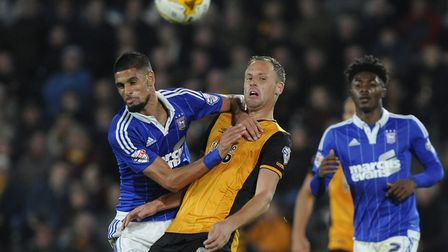 David Meyler, centre, in action for Hull against Ipswich Town. Picture: Pagepix