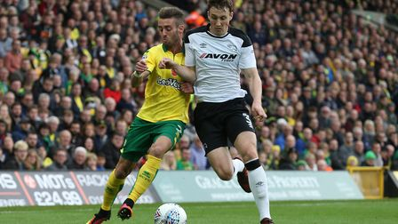 Ivo Pinto carrried the fight for Norwich City. Picture: Paul Chesterton/Focus Images Ltd