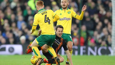 Harrison Reed and Tom Trybull found it tough going against Wolves. Picture: Paul Chesterton/Focus Im