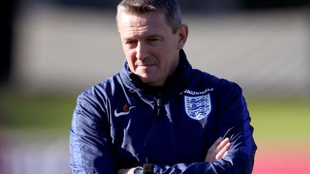England U21s manager Aidy Boothroyd during training at St George's Park. Picture: Nick Potts/PA Wire