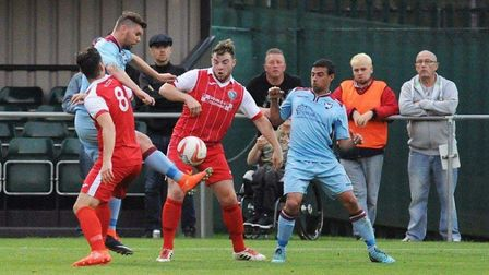 Norwich CBS are in FA Vase action. Picture: Shaun Maxey.