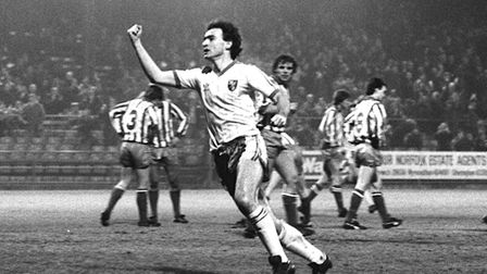 Martin O'Neill was Age Hareide's captain at Norwich City in the early 1980s. Picture: Archant